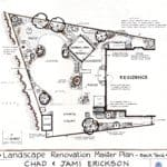 Renovation / Master Plan View designed and drawn by Cheryl Parke